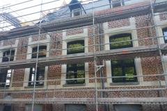 renovation mur façade chateau