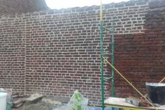 nettoyage mur jardin après joint
