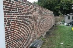 nettoyage mur jardin après